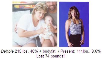 Pompano beach personal training client before and after Debbie